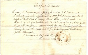 Certificat de sinistré Faymont