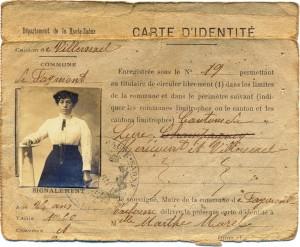 carte d'identité Morel Marthe