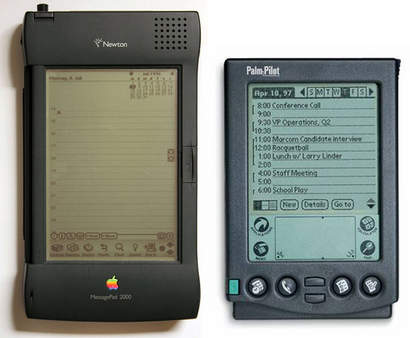 Apple Newton vs Palm Pilot