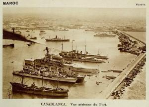 Casablanca vue aérienne du port 1935